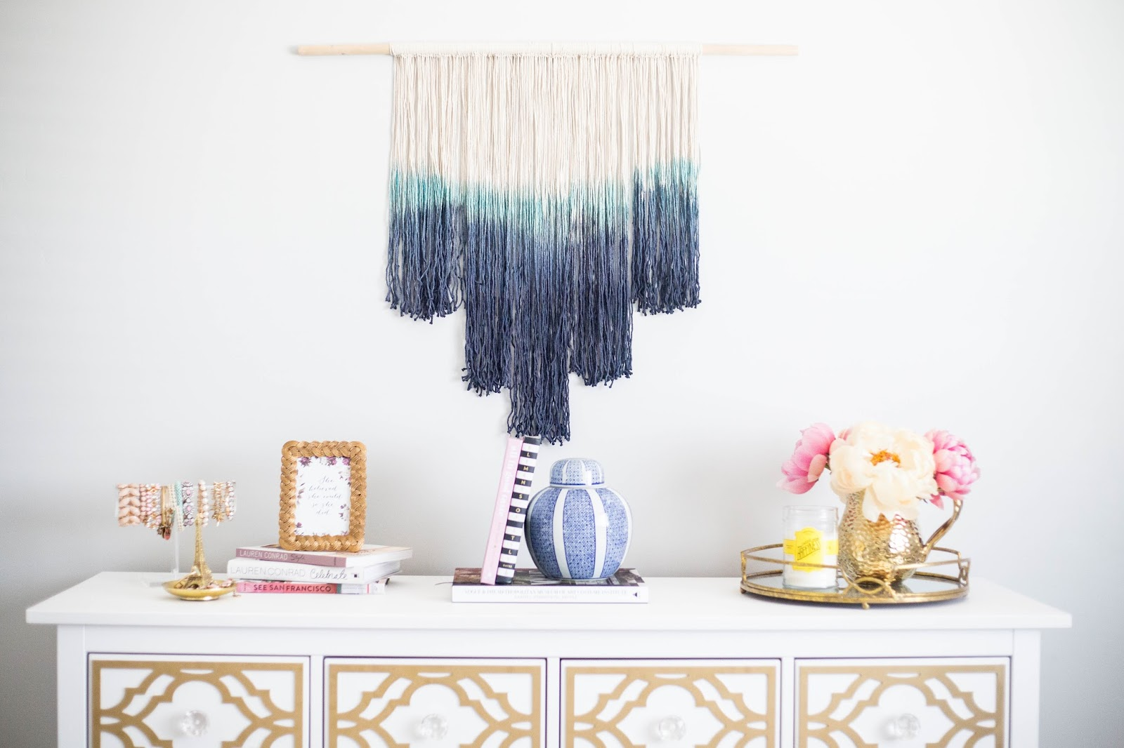 Diy how to make a dip dyed wall hanging a pretty penny the tutorial is on this diy dip dyed wall hanging i have seen these everywhere and have always wanted to buy one but i am super picky when it comes to solutioingenieria Choice Image