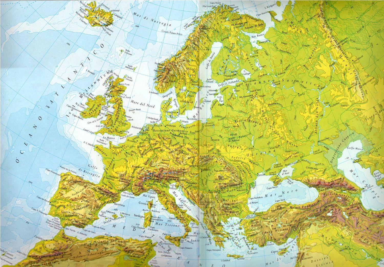 Cartina Muta Dell Europa Fisica.Cartina Fisica Delleuropa Da Stampare Stampae Colorare