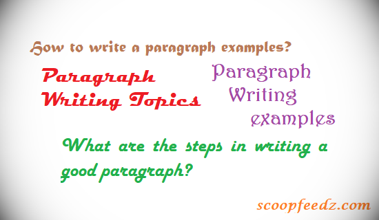 How to write a paragraph examples