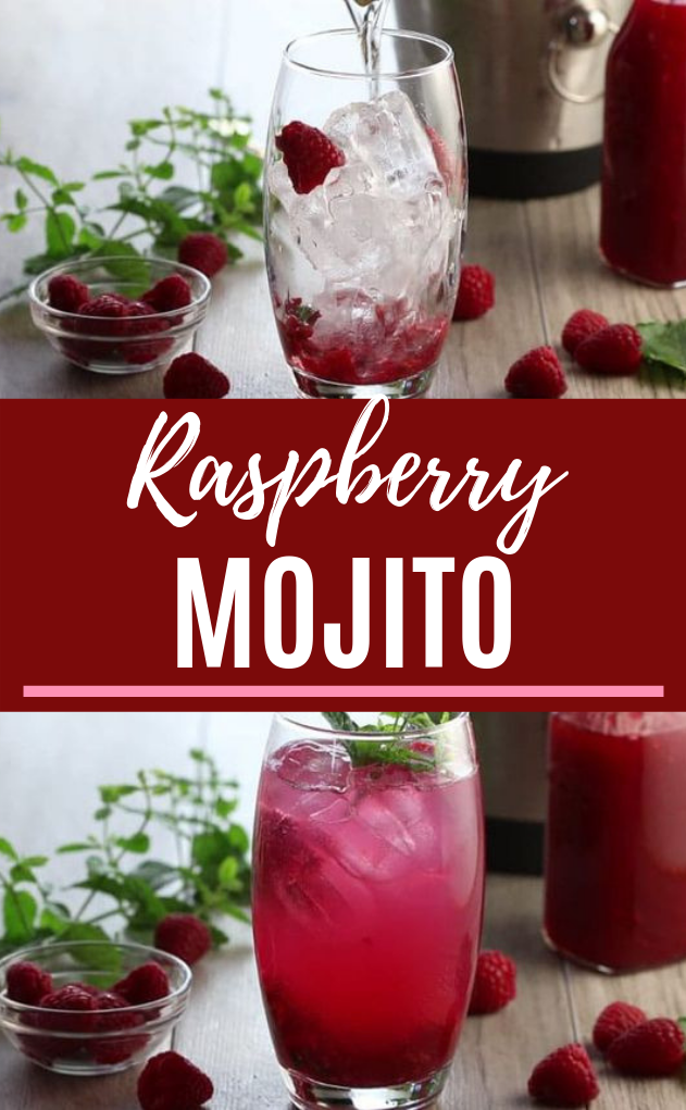 Raspberry Mojito #cocktail #summer
