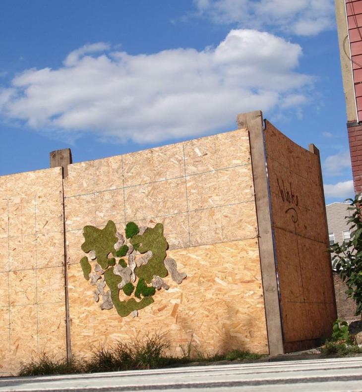 Interesante Graffiti Ecológico.