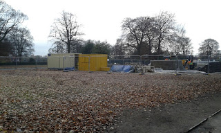 Building of the Edgeley Skatepark at Alexandra Park in Stockport