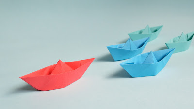 colored paper boat hd resolution wallpaper