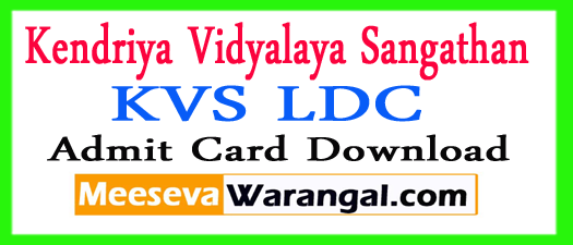 KVS LDC Re Exam Date 2017 Download