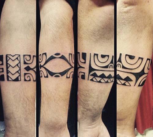aztec maori armband tattoo kol bandı dövme erkek