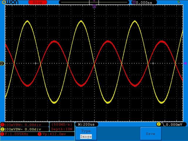 Измерения лампового усилитель на лампе 6J1 (аналог 6Ж1П)