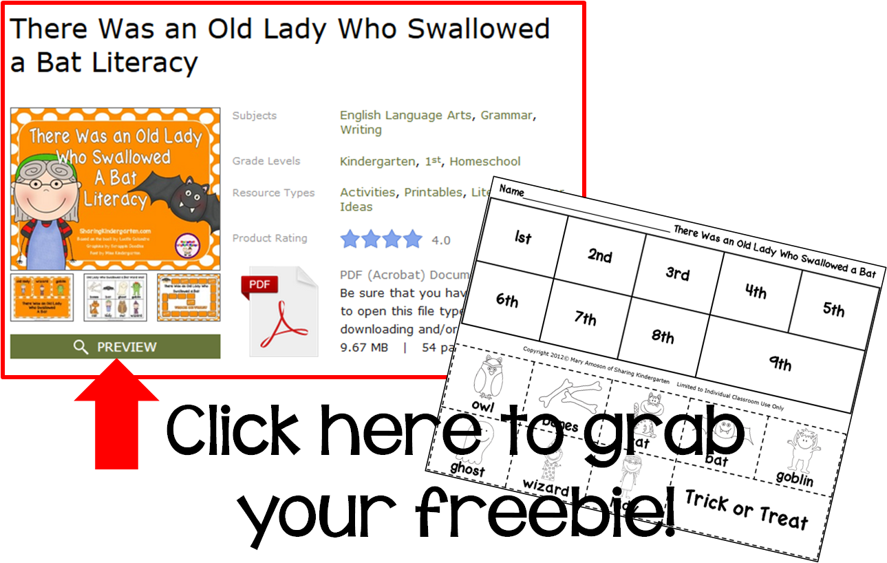http://www.sharingkindergarten.com/2013/10/there-was-old-lady-who-swallowed-bat.html
