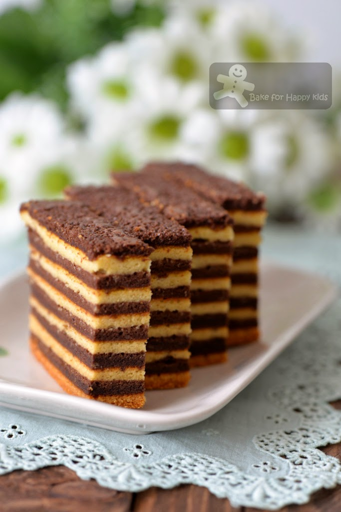 chocolate kek lapis lapis legit spekkoek Indonesian layer cake