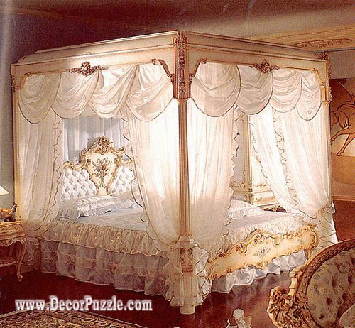 luxury classic canopy bed designs and drapes 2018 for royal beds