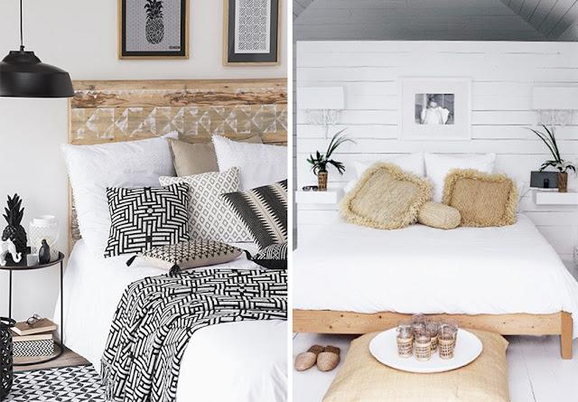 dormitorios blancos y negros