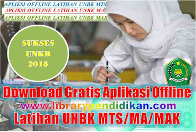 Download Gratis Aplikasi Offline Latihan UNBK MTS/MA/MAK