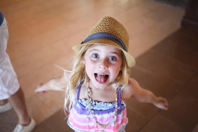 Little girl having fun on vacation