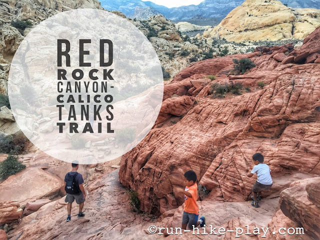 Hiking Calico Tanks Trail at Red Rock Canyon