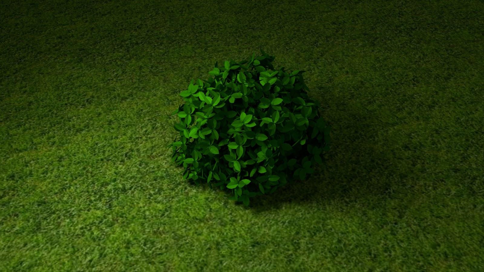 Free 3D Leaf Bush .blend file