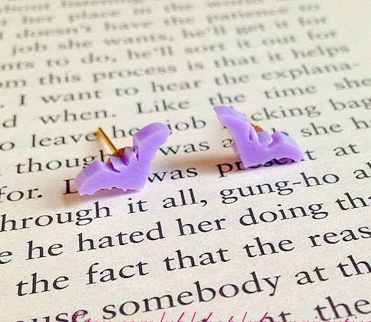 The Cutest Tiniest Lilac Bat Earrings