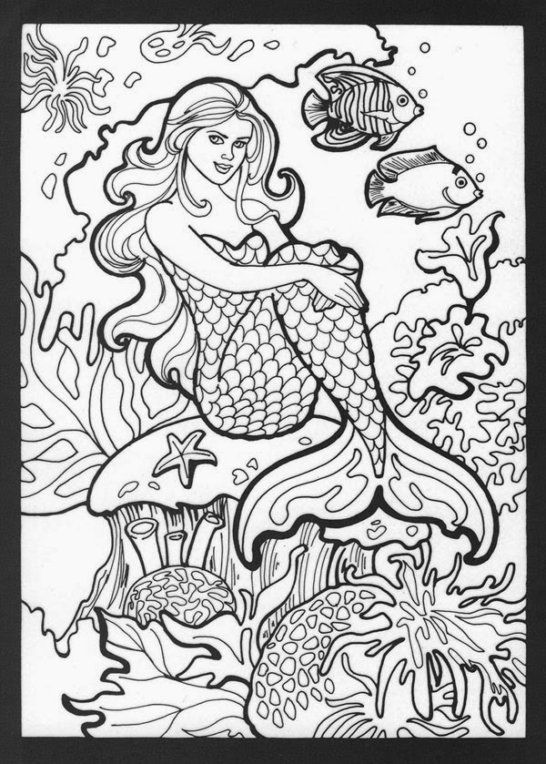 Adult Coloring Pages Mermaids