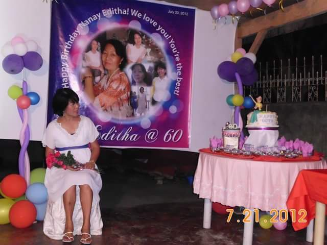 5 Years Forward Me And My Siblings Sort Of Had A Pact To Give Mom Birthday Party Every Five After She Turned 60 Just Last July This Year 2017