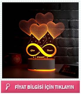 Sonsuz Aşkımız 3D Led Lamba