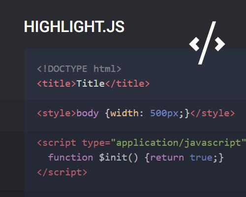 Utilizar highlight.js para resaltar código