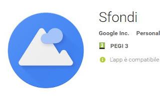 app Sfondi Google