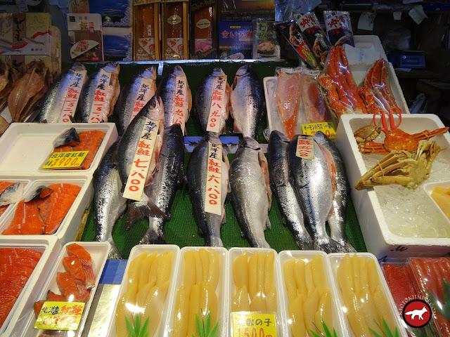 étales du marché au poisson de Hakodate