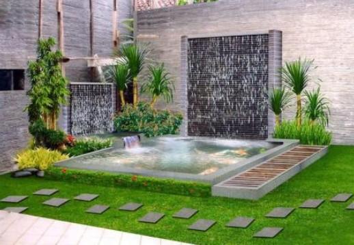 desain taman indah di halaman rumah