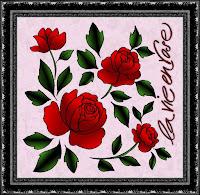 la vie en rose, bearbeitete Kreul-Vorlage