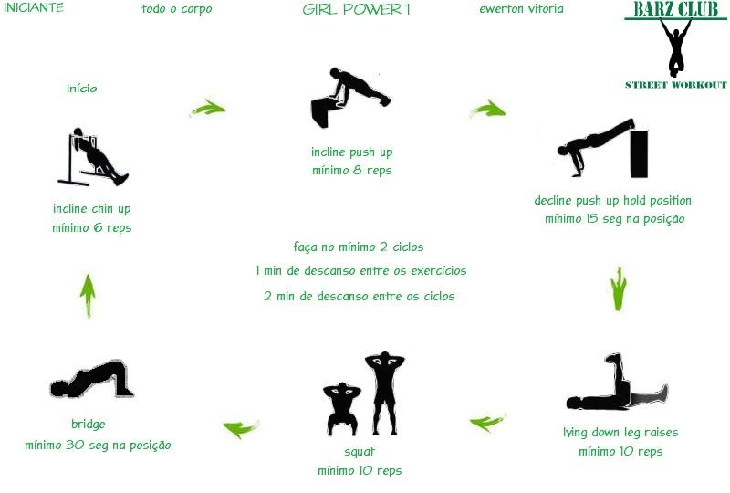 Fabuloso Barz Club Street Workout: Street Workout Girl - Treino para  RR29