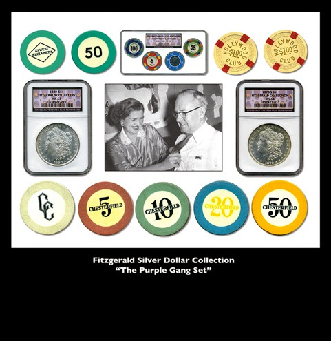 "Rick's Pedigree Coins – Fitzgerald Silver Dollar Collection ""The Purple Gang Set"" is Now Available!"