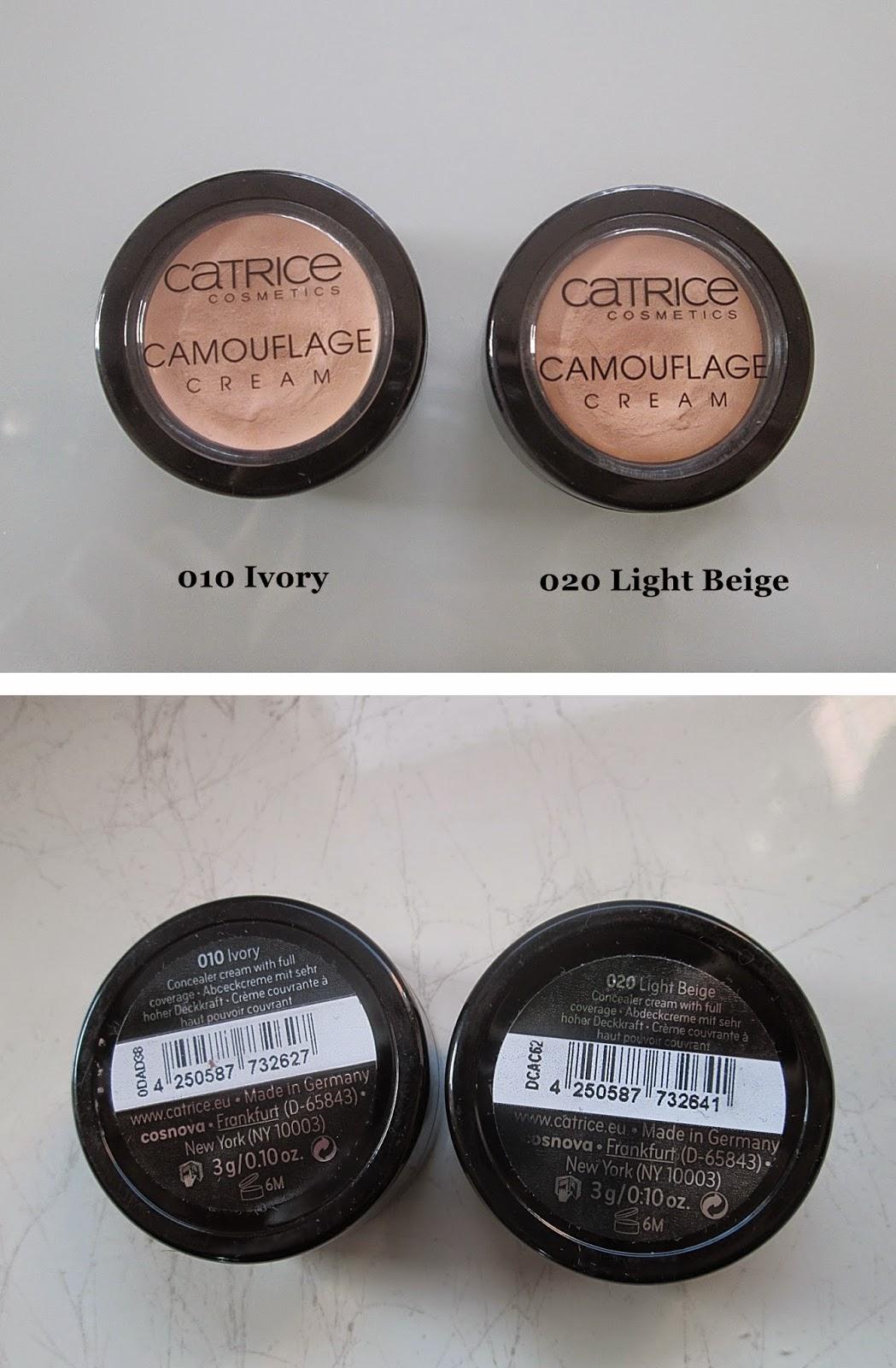 Catrice Camouflage Ivory oraz Catrice Camouflage Light Beige
