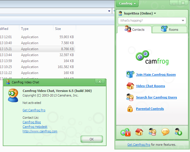 Download camfrog video chat 6. 21. 679 filehippo. Com.