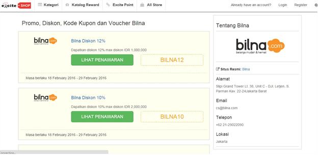 Excite Shop Bilna