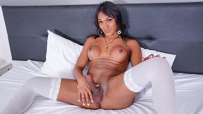 Franks-tgirlworld – Tallyta's Big Time Cumshot! – Tallyta Garcia