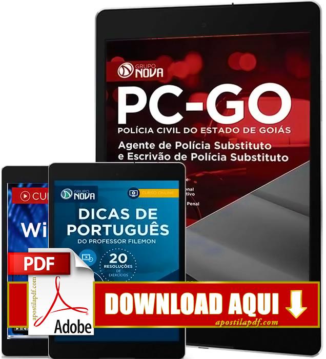 Apostila PC GO 2016 PDF Download Escrivão de Polícia Civil