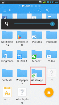 Hide any file or folder in adroid without any software 1