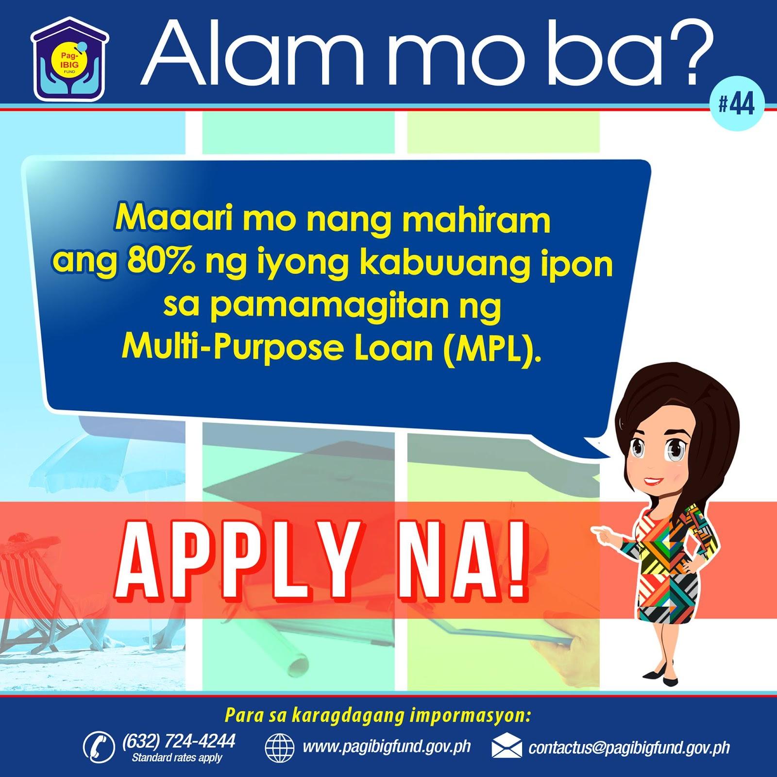 Application Loan Calamity Ibig Pag
