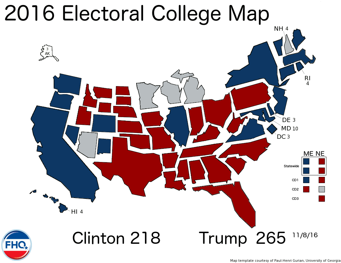 Freedoms Lighthouse Presidential Election Electoral Vote - Us electoral college map