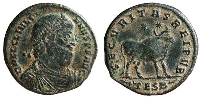 Moneda a nombre de Juliano II