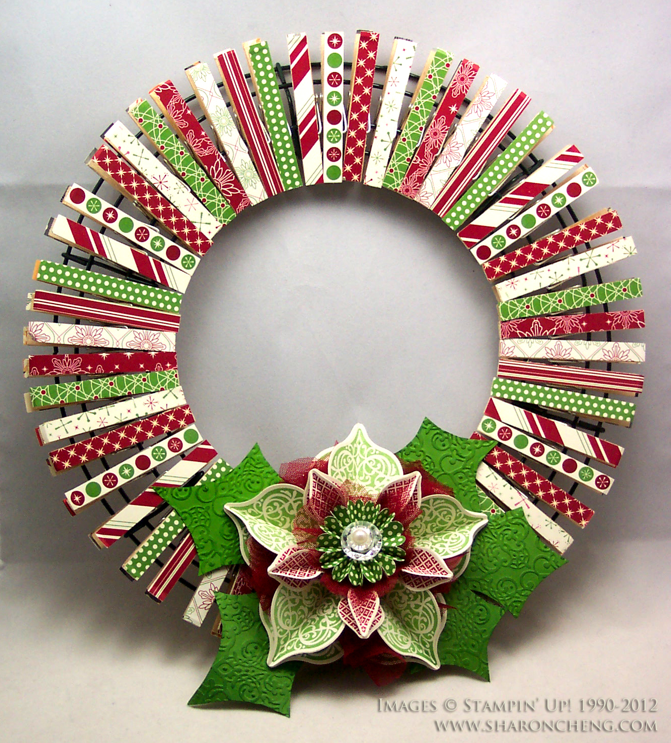 Weihnachtskranz Basteln Sharing Creativity And Company Christmas Clothespin Wreath