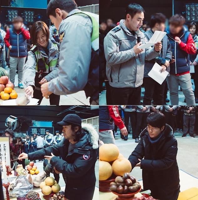 tvN週末劇《Live》開機儀式照公開 李光洙 鄭有美 挑戰派出所員警角色