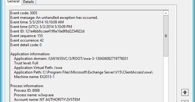 Event ID: 3003 (A Validation Error Has Occurred) [Client Side