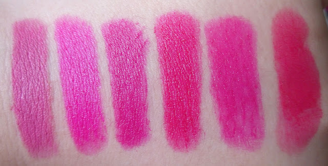 Mac Bright Lipstick Swatches