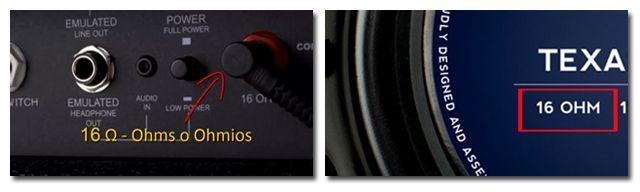 Diferentes Impedancias de los Altavoces para Amplificador de Guitarra Eléctrica