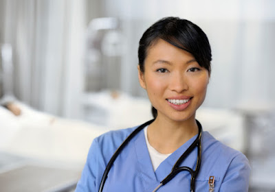 Photo of a smiling nurse