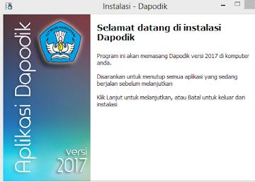 Dapodik 2017 Versi Baru Semester 2 Tahun Pelajaran 2016/2017