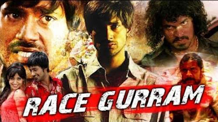 Poster Of Race Gurram In Hindi Dubbed 300MB Compressed Small Size Pc Movie Free Download Only At worldfree4u.com
