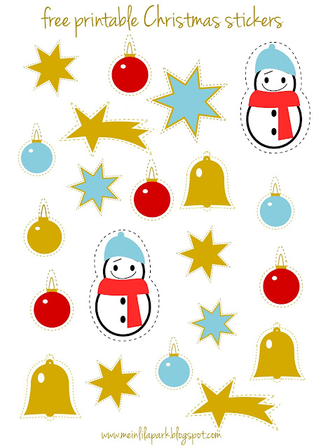 Free printable Christmas planner stickers - Agendasticker - freebie