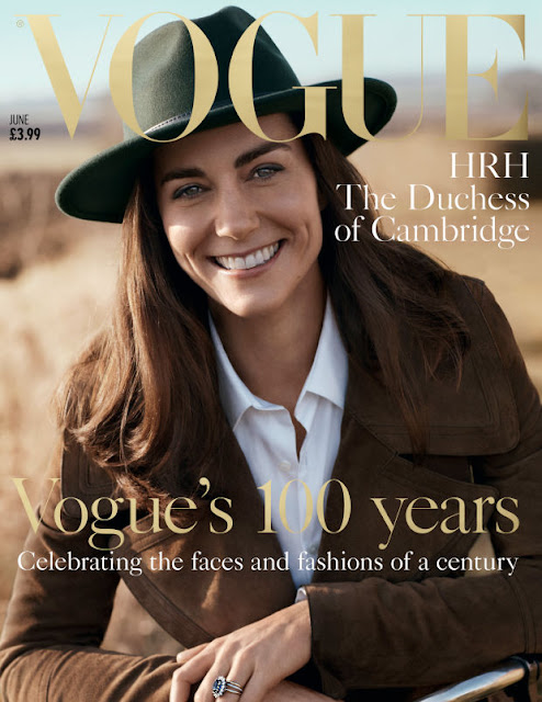 "Kate Middleton on the cover of ""Vogue"" UK's June 2016 issue. Photo: Josh Olins"