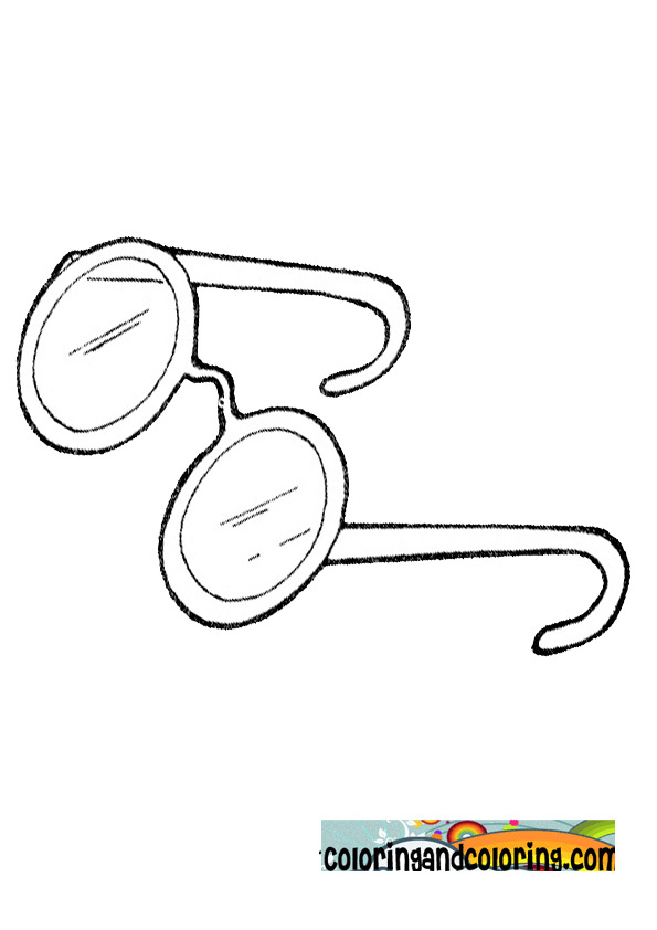 eyeglasses coloring pages - photo#33