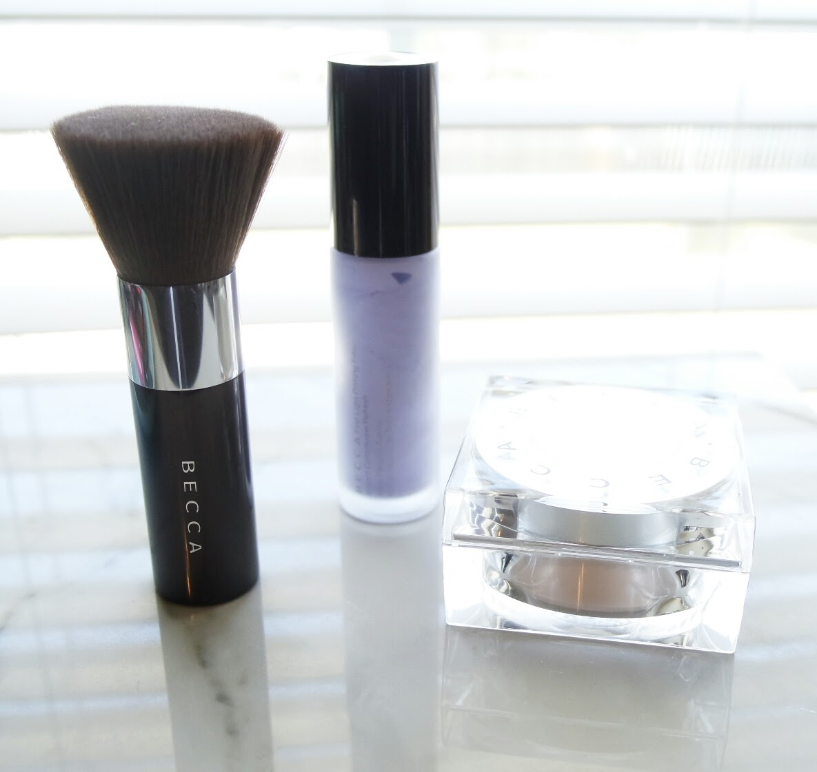 Becca First Light Priming Filter and Soft light Blurring powder